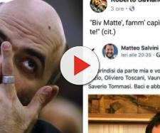 Salvini annuncia verifica dei presupposti per la scorta a Saviano.