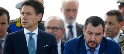 Nella foto: Giuseppe Conte e Matteo Salvini - fonte: italiaoggi.it