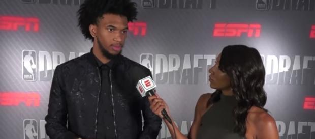 Duke forward Marvin Bagley III could go as the Kings' No. 2 pick in Thursday's NBA Draft. [Image via NBA on ESPN/YouTube]