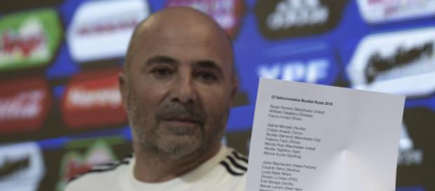 El entrenador de Argentina Jorge Sampaoli