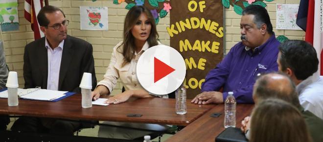 Melania Trump realiza una visita sorpresa a niños de ilegales en albergues en Texas