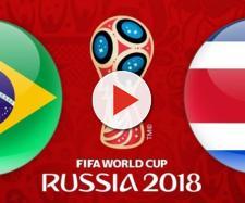 Brasil x Costa Rica na Copa do Mundo Rússia 2018.