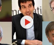 Maurizio Martina e altri leader del PD (Orlando, Emiliano, Gentiloni e Del Rio)