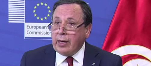 Il ministro degli Affari esteri della Tunisia, Khemaies Jhinaoui