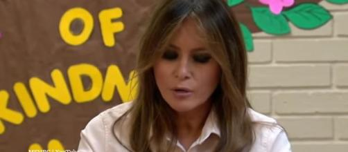 Melania I Don't Care jacket raises ire over visit to detention centre - Image credit - MSNBC | YouTube