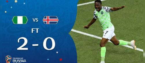 Nigéria 2x0 Islândia - Copa do Mundo