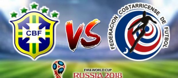 Brasil e Costa Rica jogam nesta sexta-feira (22), às 9 horas