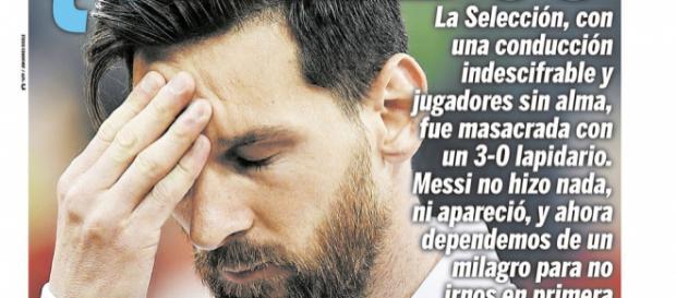 El mayor culpable de la derrota de Argentina ante Croacia, es la propia Argentina.