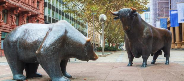 """Il mercato rialzista o """"bull market"""" e il mercato ribassista o """"bear market""""."""