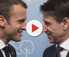Nella foto il leader francese Emannuel Macron e il leader italiano Giuseppe Conte - fonte: silenziefalsita.it