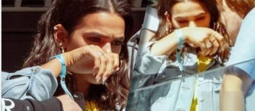 Bruna Marquezine se emociona e chora em jogo do Brasil