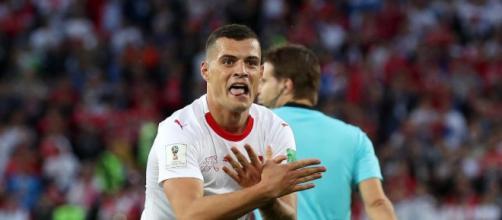 Comemoração dos jogadores da Suíça tem dado o que falar.