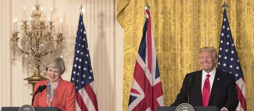 Donald Trump and Theresa May at a joint press conference in the White House (Image courtesy - Shealah Craighead, Wikimedia Commons)