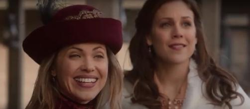 Pascale Hutton and Erin Krakow have come a long way as friends on 'When Calls the Heart.' - [wordfilmsonline / YouTube screencap]