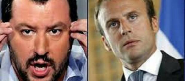 Macron e Salvini in disaccordo sull'immigrazione