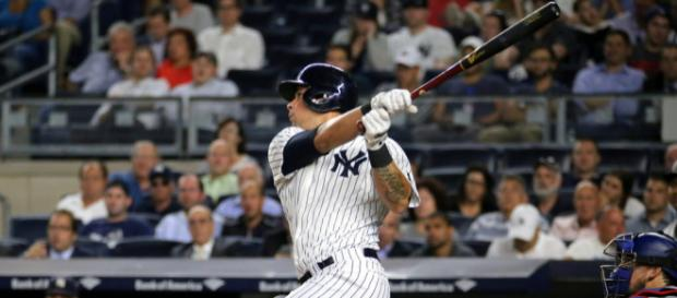 Yankees catcher Gary Sanchez was injured in the team's June 24 loss to the Tampa Bay Rays on the road. - [Arturo Pardavila III / Flickr]