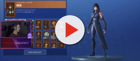 The new Fate outfit in 'Fortnite.' - [DrLupo / YouTube screencap]