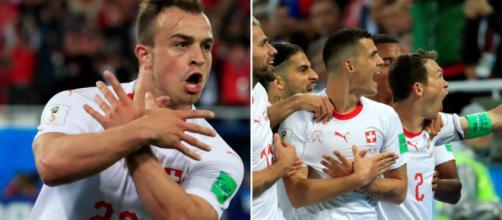 Xherdan Shaqiri et Granit Xhaxa sont au coeur de la polémique après leur geste lors de Suisse - Serbie.