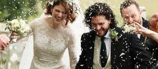 Rose Leslie y Kit Harington de 'Juego de Tronos' se casaron en Escocia