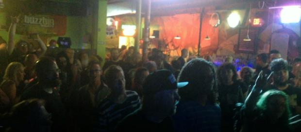 The view from the stage as Sam I Be Di Gangi joined the legendary Green Jelly (Photo by Mr. Di Gangi | Own Work)