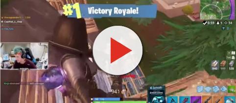 Ninja snagging that Victory Royale using the new Fate skin. - [Ninja / YouTube screencap]
