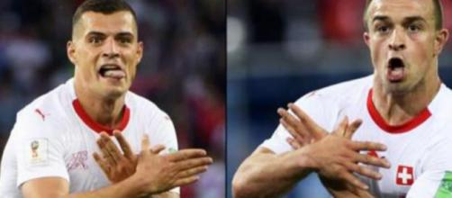 Xhaka y Shaqiri son investigados por celebrar haciendo el águila bicéfala de Albania