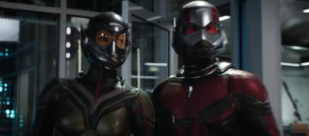 'Ant-Man and The Wasp,' in theaters July 6, stars Evangeline Lilly (left) and Paul Rudd (right). [Image via Marvel Entertainment/YouTube]