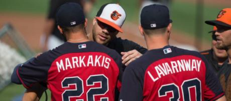 Nick Markakis is in the midst of a career-year at 34 years old. [Image Source: Flickr | Keith Allison]