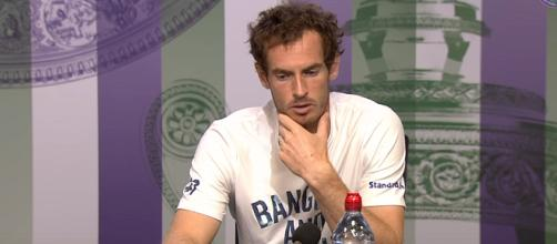 Andy Murray is speaking at a press conference during the 2017 Wimbledon. Photo: via Wimbledon channel on YouTube