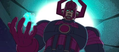 Galactus shown in the animated 'Hulk and the Agents of S.M.A.S.H.' show. - [Image via ComicsAlliance / YouTube screencap]