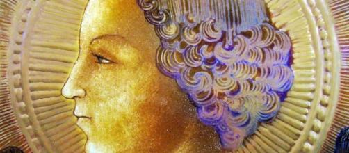 Un azulejo con la imagen de San Gabriel: la primera obra de Leonardo da Vinci