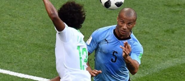 Jogador está na Rússia defendendo o Uruguai na Copa