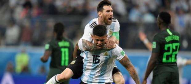l'Argentine à arrachée sa victoire contre le Nigéria, et se qualifie in extremis en Huitième de Finale