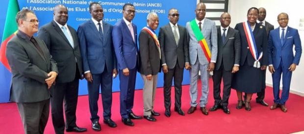 Le président Patrice Talon et les invités de la cérémonie