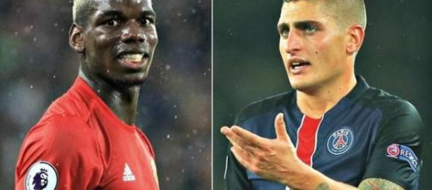 Mercato : Le PSG a proposé Verratti et de l'argent à Manchester en échange de Pogba