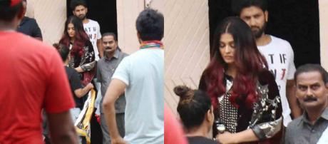 Aishwarya Rai Bachchan clicked on the sets of 'Fanney Khan' (Image via Zoom Tv screencap)