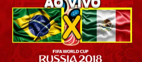 Brasil e México jogam nesta segunda-feira, dia 02