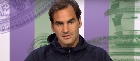 Roger Federer speaks during a press conference at the 2018 Wimbledon. Photo: screenshot via Wimbledon channel on YouTube