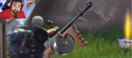 The upcoming Drum Gun in 'Fortnite' - (Image via Hollow Poiint/YouTube screncap)