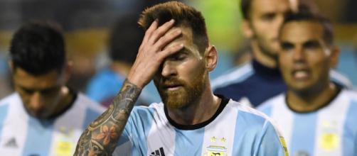La desesperación de Leo Messi en el partido contra Nigeria