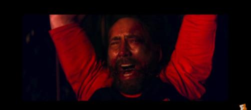 Nicolas Cage as Red Miller in 'Mandy.' (YouTube/RLJE).