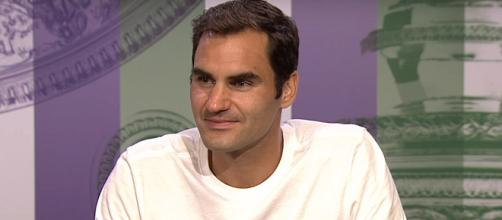 Roger Federer speaks during a press conference following his success at the 2017 Wimbledon. (Image Credit: Wimbledon channel on YouTube)