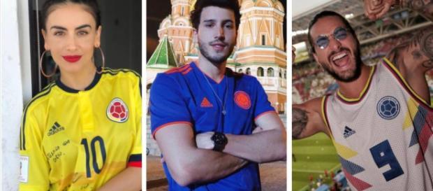 Celebridades colombianas y mexicanas acompañan a sus equipos favoritos en el mundial