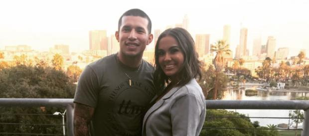 Javi Marroquin and Briana DeJesus when they were still together as a couple. - [Image Credit: 24*7 Updates / YouTube screencap]