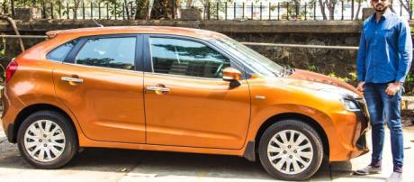 Maruti-Suzuki Baleno on the road.( image credit -Faisal Khanl/Youtube)
