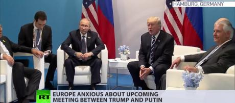 Trump and Putin in a earlier meeting Photo-Image- RTNews/youtube.com