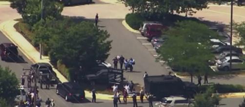 Maryland: le immagini delle forze dell'ordine giunte sul posto.