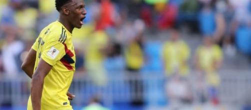 Mina marcou o gol da vitória da Colômbia
