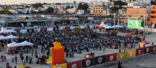 Dans certaines zones très pauvres du pays ont été retransmis en direct le match Tunisie - Panama