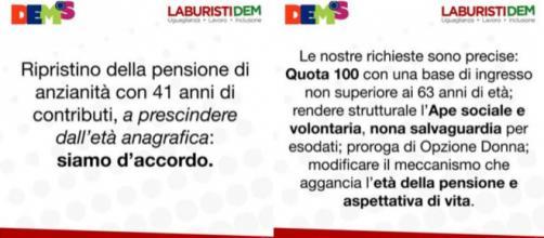 Pensioni, le proposte del Pd: da Quota 100 e 41 a Opzione donna.